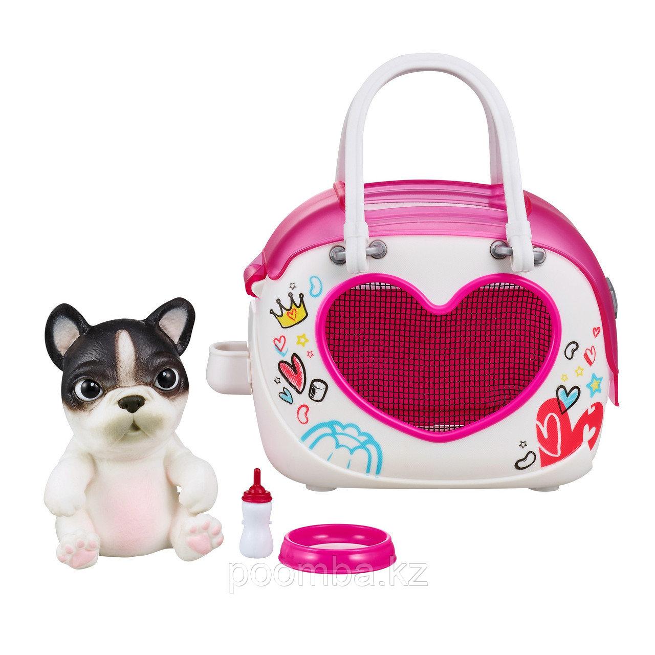 Интерактивная игрушка сквиши-щенок OMG Pets! в переноске
