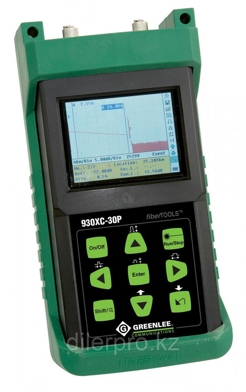 Greenlee 930XC-30P - оптический рефлектометр PON (1310/1490/1550нм) с функцией оптического тестера и визуализатора повреждений, APC/FC