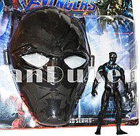 Набор детская маска и фигурка Черная Пантера 15 см серия Мстители