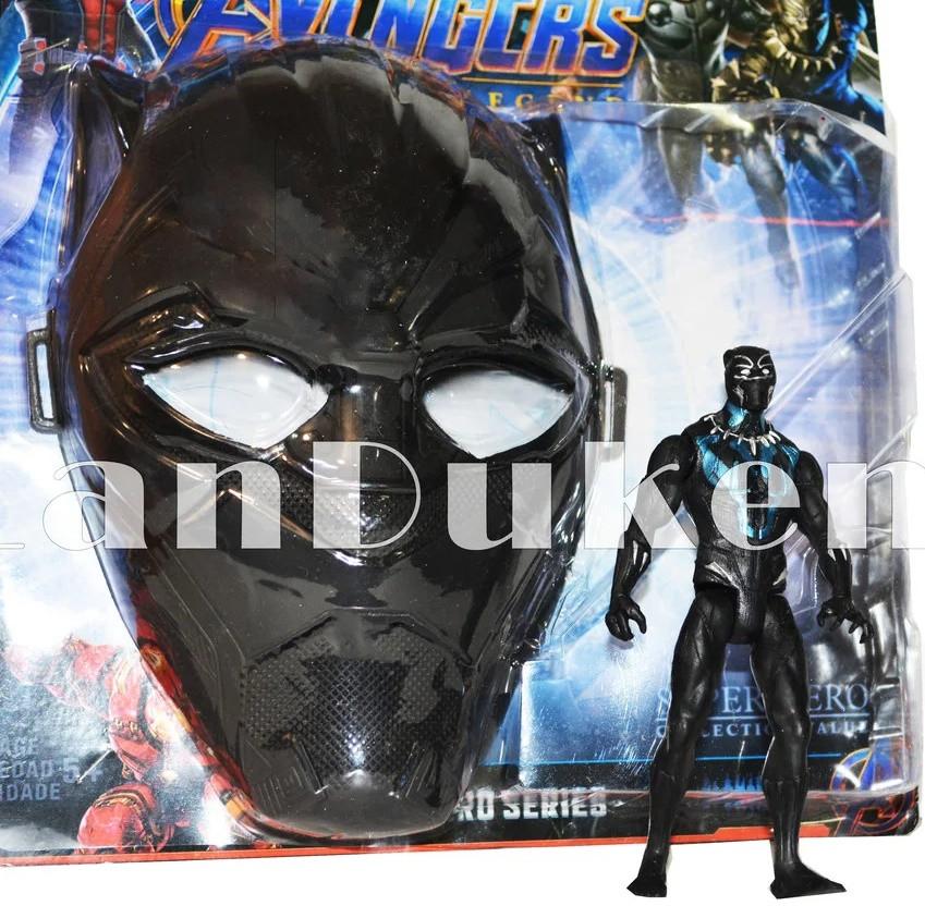 Набор детская маска и фигурка Черная Пантера 15 см серия Мстители - фото 1