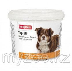 Beaphar Top 10 для собак, 750 таб.  Мультивитаминная добавка с L-карнитином 