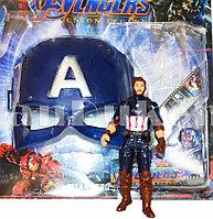 Набор детская маска и фигурка Капитана Америка 15 см серия Мстители