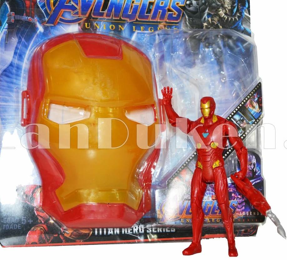 Набор детская маска и фигурка Железный человек 15 см серия Мстители - фото 1