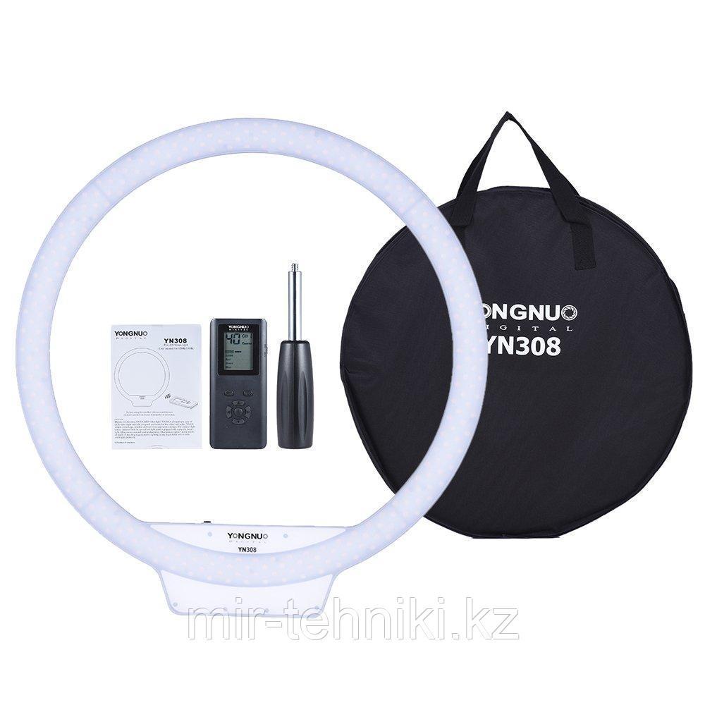 Кольцевой светодиодный осветитель Yongnuo YN-308 LED5500K в комплекте(2 аккумулятора F750+зарядное устройство)