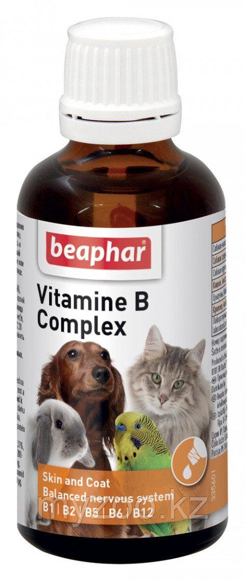 Beaphar Vitamine B Complex 50 гр.  Кормовая добавка для всех домашних животных 