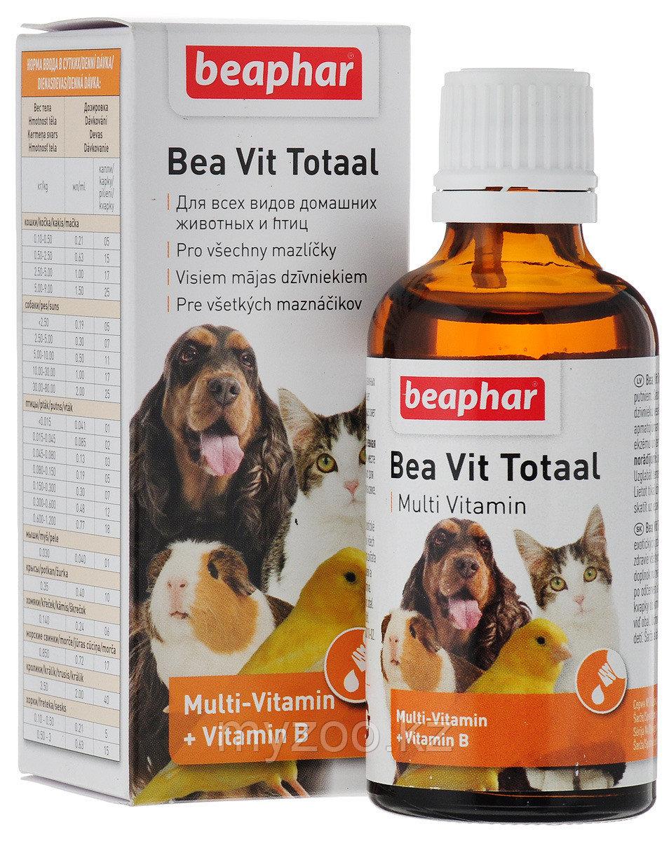 Beaphar Vit Total, 50 мл |Комплекс витаминов при линьке и оперении|