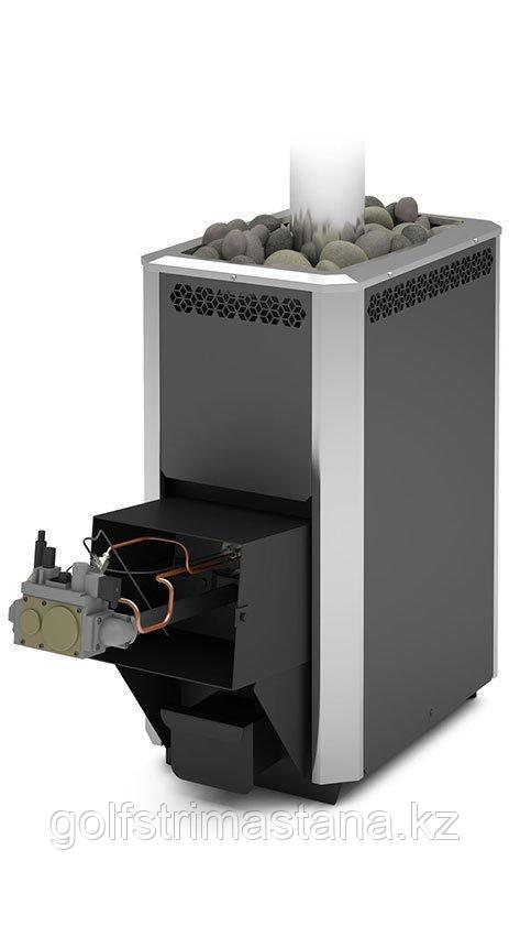 Печь газовая для бани и сауны Сахара-24 ЛК с АГГ 40П