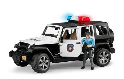 Полицейский внедорожник Jeep Wrangler Unlimited Rubicon с фигуркой Bruder 02-526
