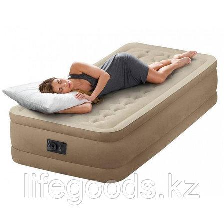 Односпальная надувная кровать со встроенным насосом Intex 64426, фото 2