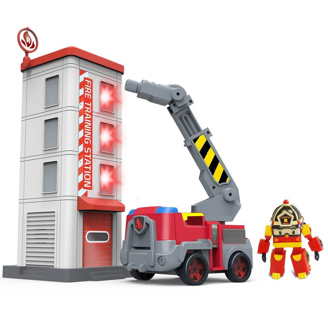 """Robocar Poli Игровой набор """"Пожарная станция"""" с минифигуркой Рой"""