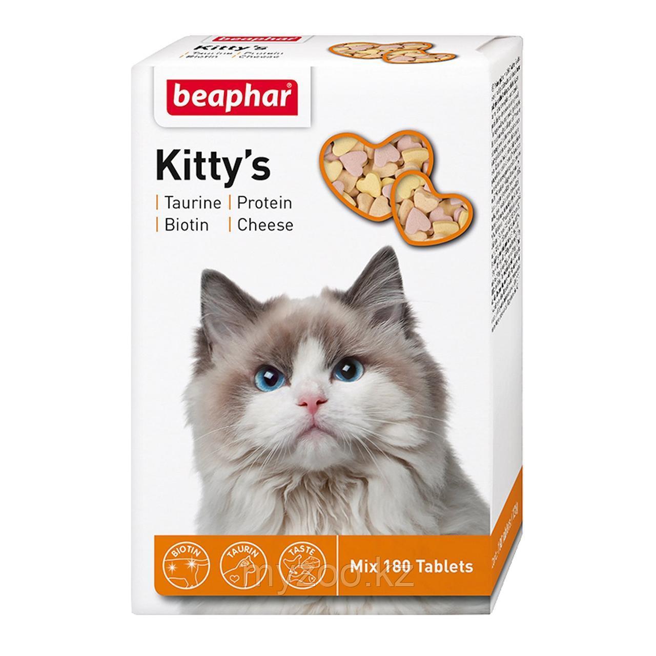 Beaphar Витамины Kitty's Mix, 180 |Беафар Киттис Микс таурин-биотин, протеин, сыр|