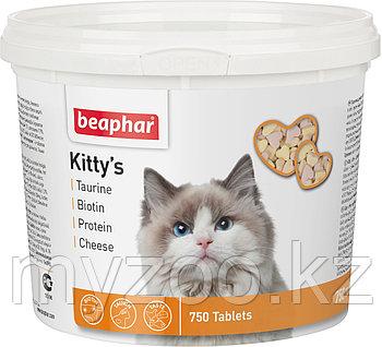 Beaphar Витамины Kitty's Mix, 750 таб. |Беафар Киттис Микс таурин-биотин, протеин, сыр|