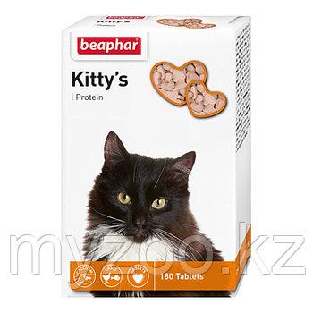 Beaphar Витамины Kitty's Protein, 180 таб. |Беафар Cердечки с протеином|