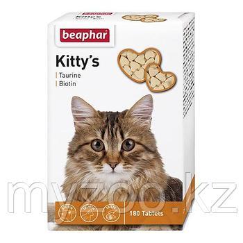 Beaphar Kitty*s Mix, Беафар Киттис Микс таурин-биотин  витамины для кошек, уп. 180 табл.