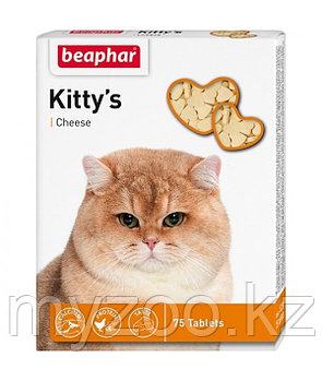 BEAPHAR Kitty*s Cheese, Беафар сердечки с сыром, уп. 75 табл.