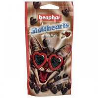 Beaphar Malt-Hearts, Беафар Сердечки для выведения шерсти из желудка кошек, 150табл.