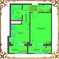 Однокомнатная квартира 37,99 кв.м в жк Оазис