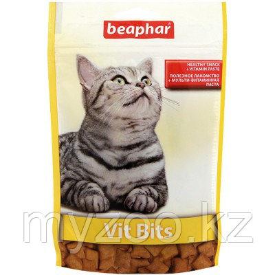 Beaphar Vit-Bits, Беафар подушечки для кошек, лакомства с витаминной пастой, 35гр.