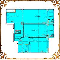 Двухкомнатная квартира 70,6 кв.м., фото 1