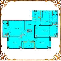 Четырехкомнатная квартира 94.77 кв.м в жк Оазис