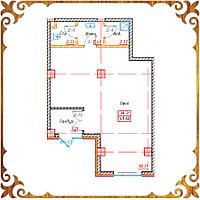 Коммерческое помещение 48.68 кв.м в жк Оазис