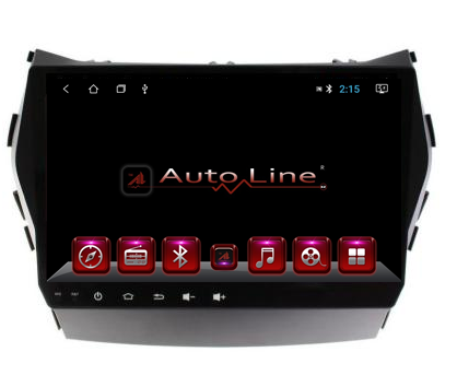 Автомагнитола AutoLine Hyundai Santa Fe 2013-2017г  8 ЯДЕР (ULTRA CORE)