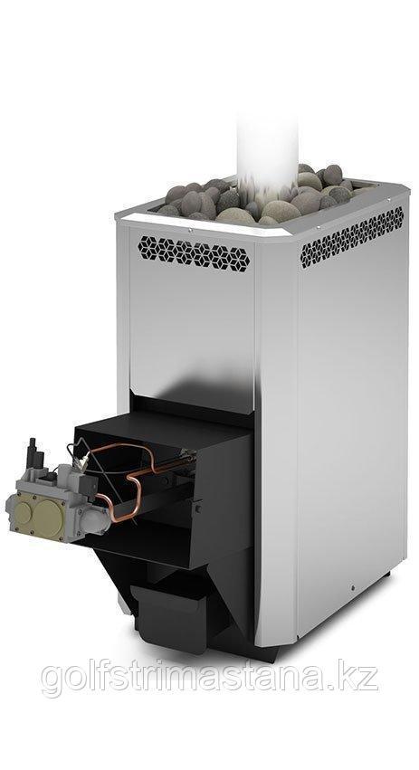 Печь газовая для бани и сауны Сахара-16 ЛНЗП Профи с АГГ 20П