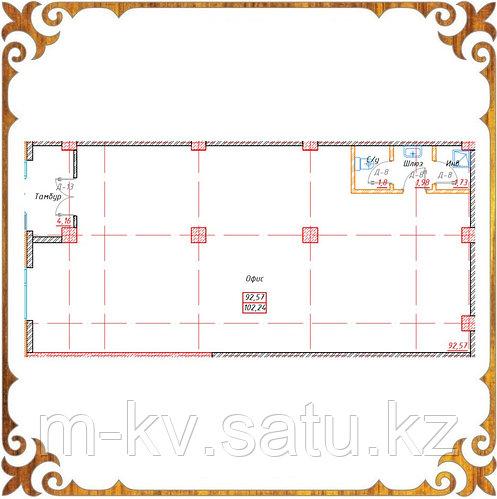 Коммерческое помещение 102.24 кв.м в жк Оазис