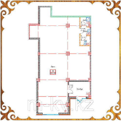 Коммерческое помещение 102.99 кв.м в жк Оазис