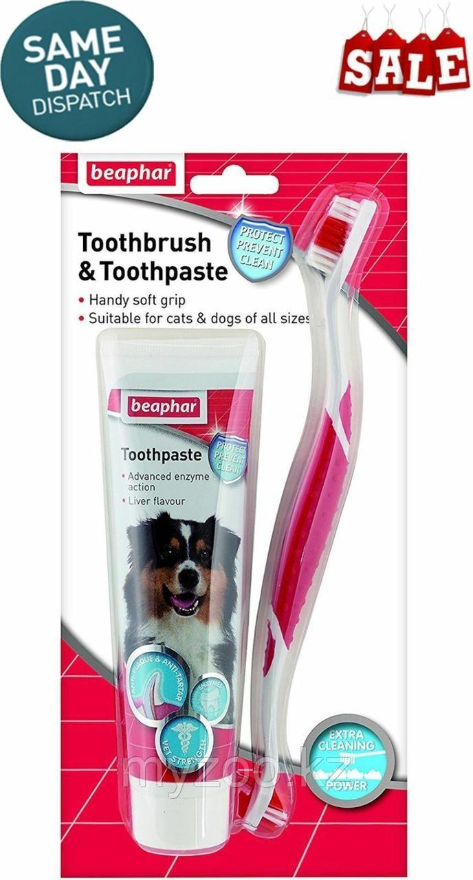 Beaphar Зубная паста для собак и кошек + щетка