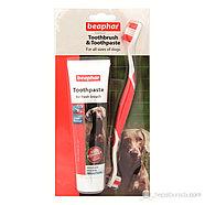 Beaphar Зубная паста для собак и кошек + щетка, фото 2