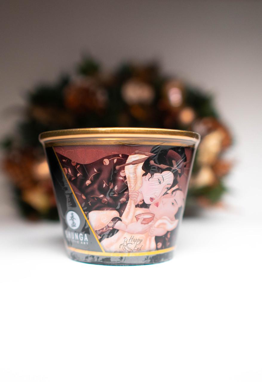 Массажное аромамасло-свеча Shunga, с ароматом пьянящий шоколад, 170 мл - фото 2