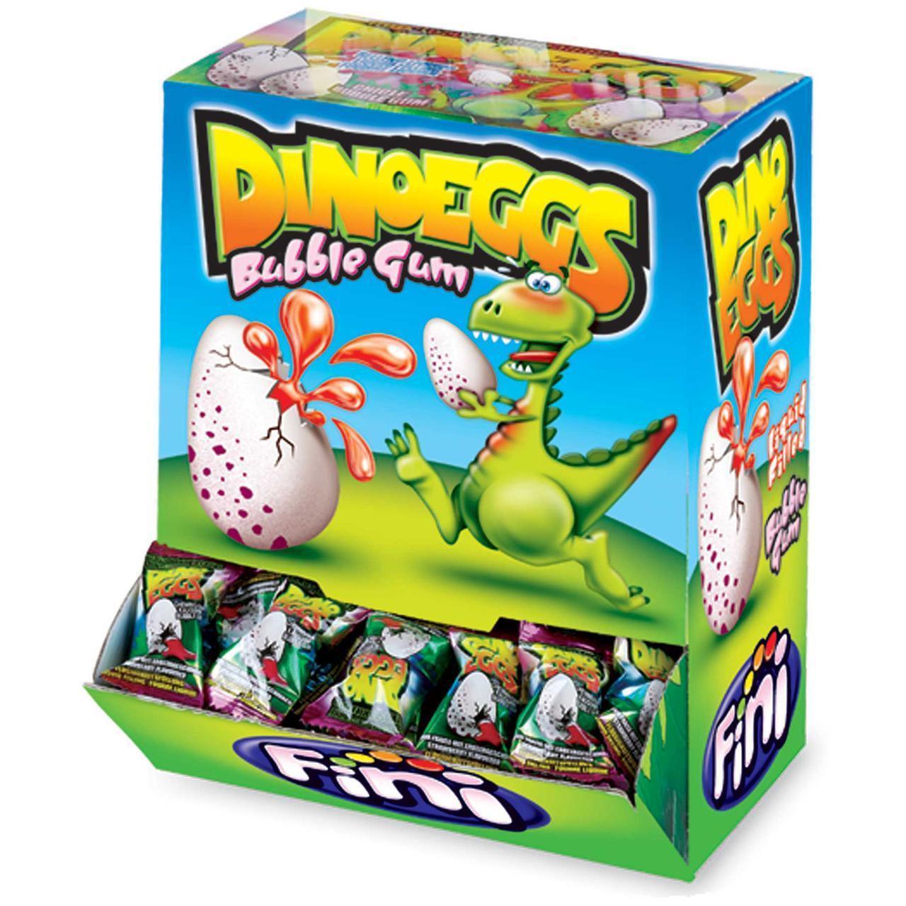 """Жвачка с начинкой """"Яйцо динозавра"""" FINI Испания в блоке -200шт"""
