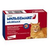 МИЛЬБЕМАКС, антигельминтик для взрослых кошек, 2табл.