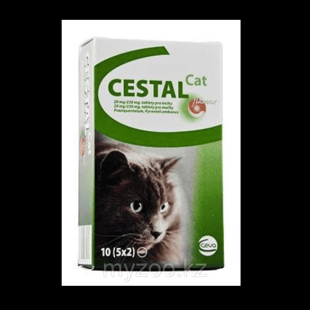 ЦЕСТАЛ КЭТ, антигельминтик для кошек, 10табл.