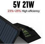Солнечное зарядное устройство ALLPOWER 21 Вт (влагозащищенная складная солнечная панель с двойным usb-портом), фото 2