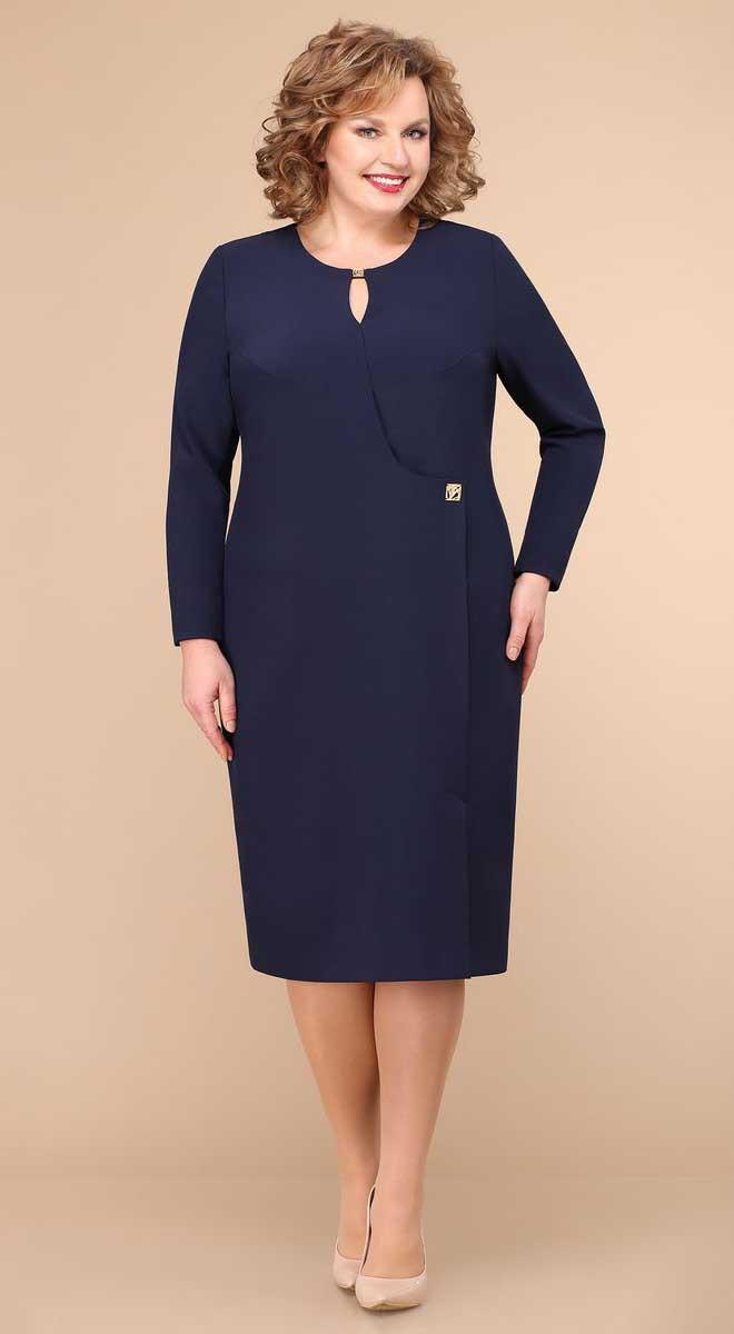 Платье Линия-Л-Б-1774, темно-синий, 54