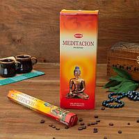 """Благовония HEM """"Meditation. Медитация"""", шестигранник"""