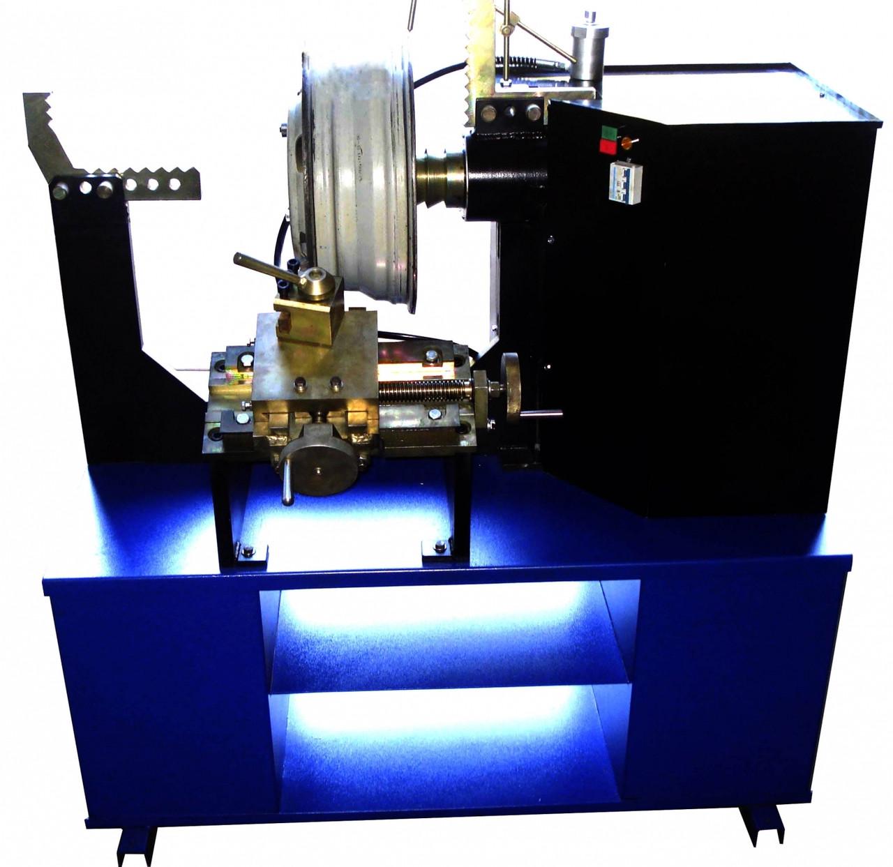 Станок для правки литых дисков STRONGBEL 21LL  с токарной группой  (электропривод вала)