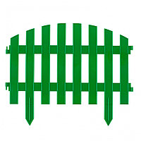 "Забор декоративный ""Винтаж"", 28 х 300 см, зеленый, Россия, Palisad"