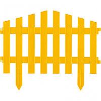 "Забор декоративный ""Марокко"", 28 х 300 см, желтый, Россия, Palisad"