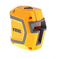 Уровень лазерный LX1, 10 м ± 0,5 мм/1 м, 635 нм, 1 вертикальная, 1 горизонтальная плоскости, резьба 1/4 Denzel