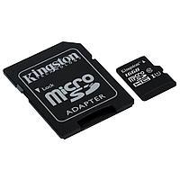 Карта памяти Kingston SDCS/16GB Class 10 16GB + адаптер