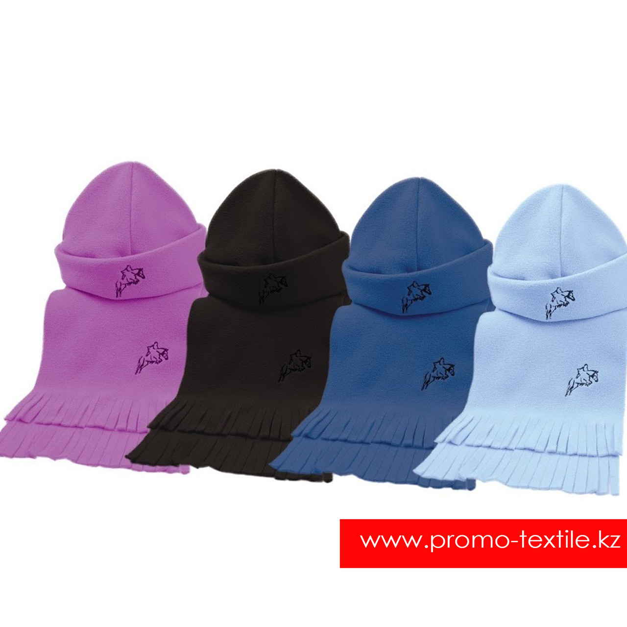 Флисовая шапка и шарф с логотипом