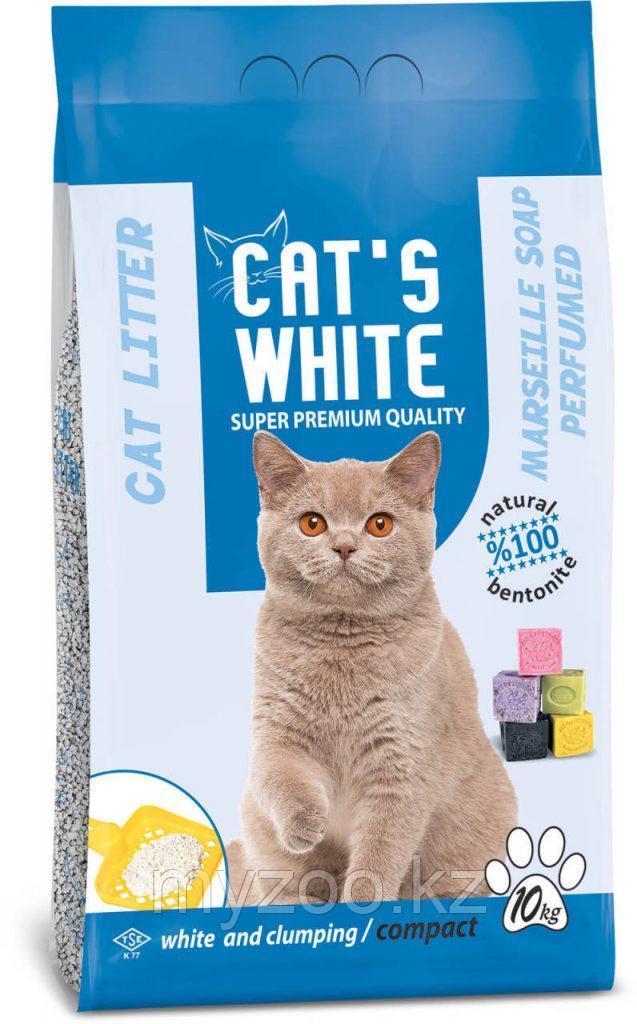 Сat's white Marseiller Soap 10кг Комкующий наполнитель