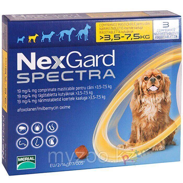"""НЕКСГАРД СПЕКТРА """"NEXGARD  SPECTRA S"""", для собак массой от 3,5 до 7,5 кг"""