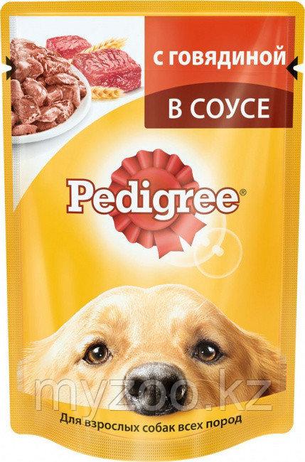 Влажный корм Педигри для взрослых собак с говядина 100 гр