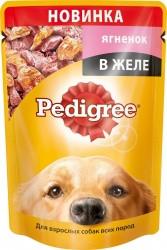 Влажный корм Педигри для взрослых собак с ягненком в желе 100 гр