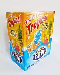 """Жвачка с начинкой """"Тропик"""" FINI Испания в блоке -200шт"""