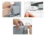 Дозатор (диспенсер) Vialli для пенки и жидкого мыла 500 мл.Белый цвет. Мыльница., фото 4